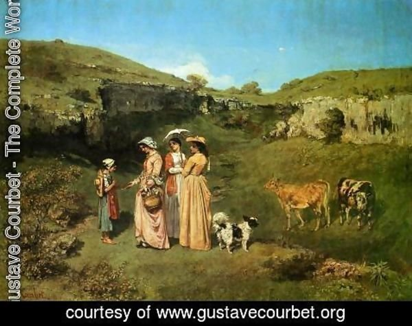 Gustave Courbet - The Young Ladies of the Village