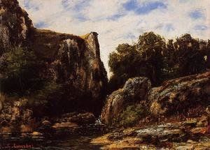 Gustave Courbet - A Waterfall in the Jura