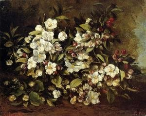 Gustave Courbet - Flowering Apple Tree Branch