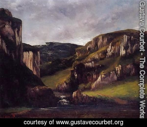 Gustave Courbet - Cliffs near Ornans