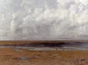 The Beach at Trouville at Low Tide