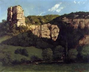 Gustave Courbet - Landscape: Bald Rock in the Valley of Ornans