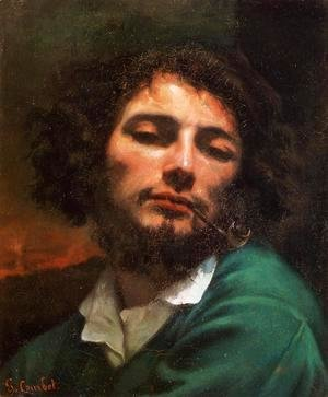 Gustave Courbet - Portrait of the Artist (or Man with a Pipe)