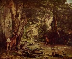 Gustave Courbet - Shelter of the Roe Deer at the Stream of Plaisir-Fontaine, Doubs
