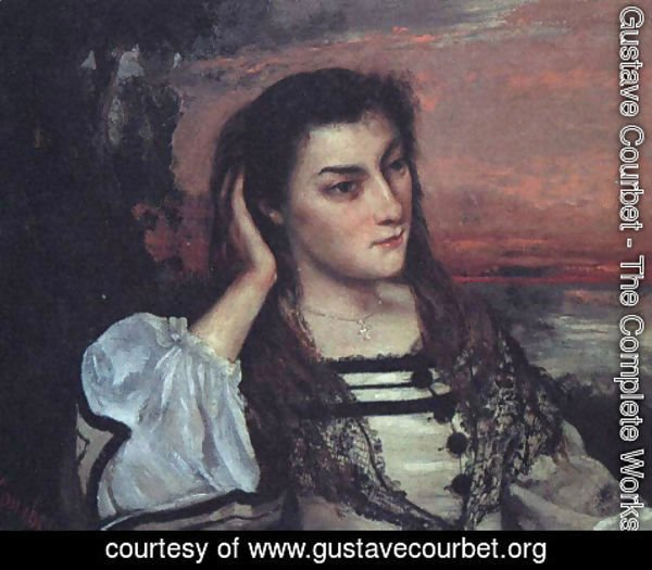 Gustave Courbet - Portrait of Gabrielle Borreau (or The Dreamer)