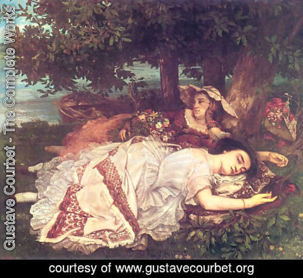 Gustave Courbet - The Young Ladies on the Banks of the Seine (or Summer)
