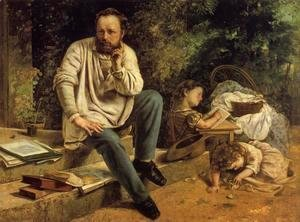 Gustave Courbet - Portrait of P.J. Proudhon in 1853