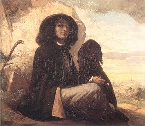 Self Portrait (or Courbet with a Black Dog)