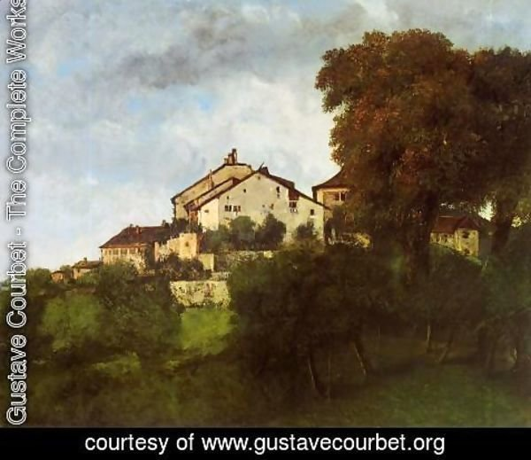 Gustave Courbet - The Houses of the Chateau D'Ornans