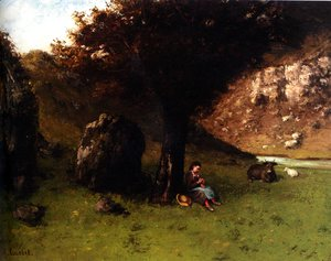 Gustave Courbet - La Petite Bergere (The Young Shepherdess)