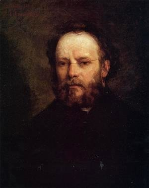 Gustave Courbet - Portrait of Pierre Joseph Proudhon (1809-65) 1865
