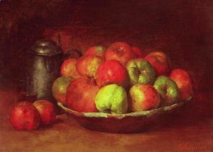 Gustave Courbet - Still Life with Apples and a Pomegranate, 1871-72