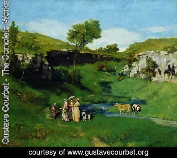 Gustave Courbet - The Village Maidens, 1851