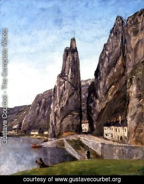 Gustave Courbet - The Rock at Bayard, Dinant, Belgium, c.1856