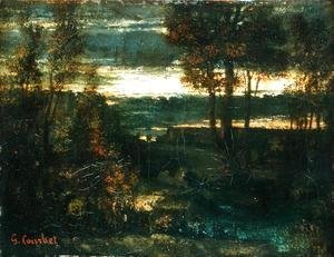 Gustave Courbet - Evening Landscape