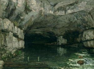 Gustave Courbet - The Grotto of the Loue, 1864