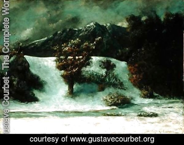 Gustave Courbet - Winter Landscape With The Dents Du Midi, 1876h