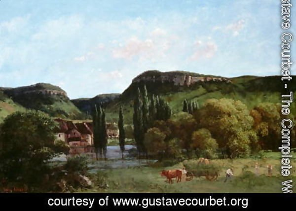 Gustave Courbet - View of Ornans, 1864