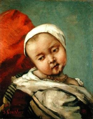 Gustave Courbet - Head of a Baby, 1865