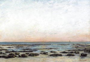 Gustave Courbet - Sunset, Trouville, c. 1870