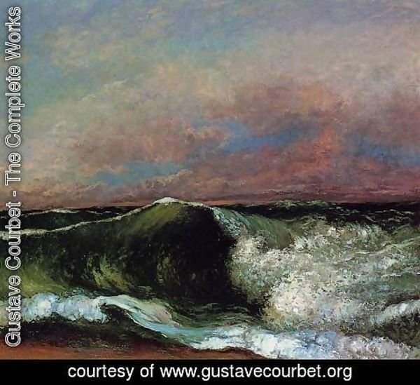 Gustave Courbet - The Wave, 1870 2