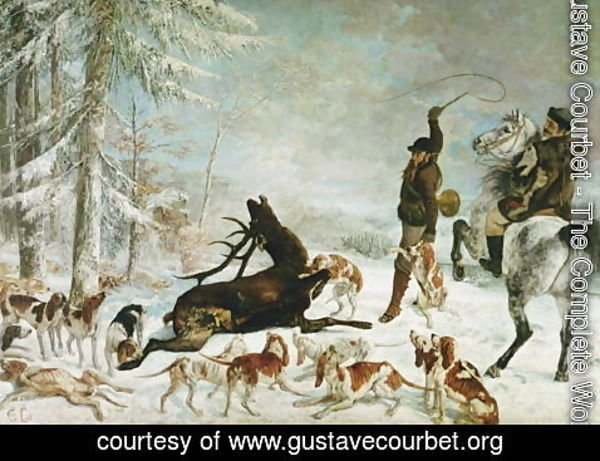 Gustave Courbet - The Death of the Deer, 1867