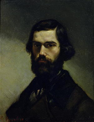 Gustave Courbet - Portrait of Jules Valles (1832-85) c.1861