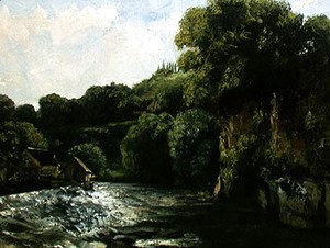 Gustave Courbet - The Lock on the Loue, 1867
