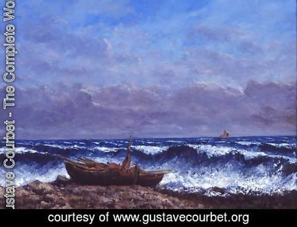 Gustave Courbet - The Stormy Sea or, The Wave