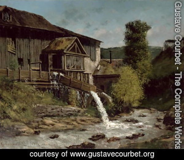 Gustave Courbet - The Sawmill on the River Gauffre
