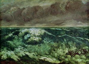Gustave Courbet - The Wave, after 1870