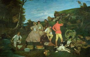 Gustave Courbet - The Huntsman's Picnic
