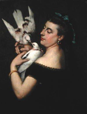 Gustave Courbet - Woman with Pigeons