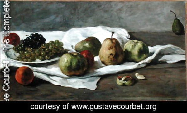 Gustave Courbet - Apples, pears and grapes