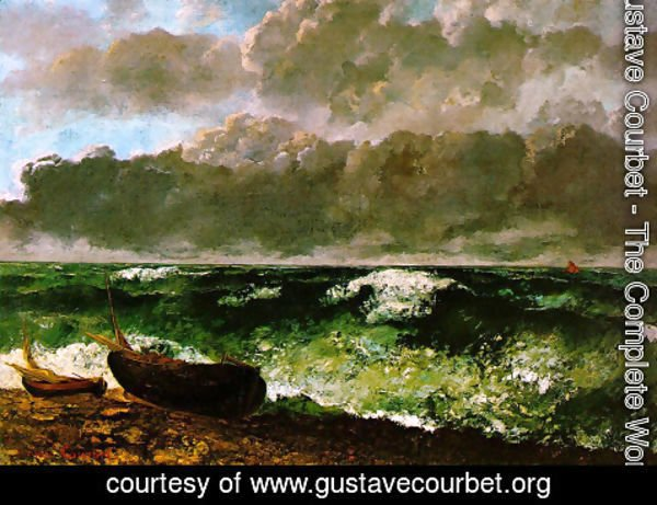 Gustave Courbet - The Stormy Sea or, The Wave, 1870