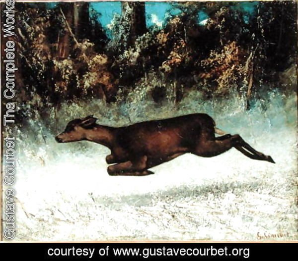 Gustave Courbet - Leaping Doe