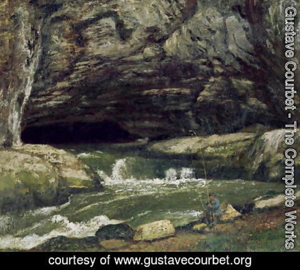 Gustave Courbet - The Source of the Loue or La Grotte Sarrazine