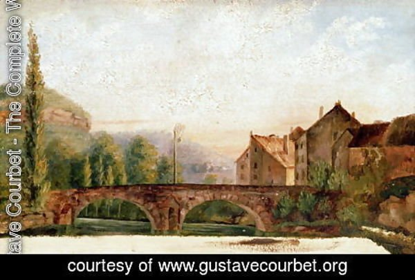 Gustave Courbet - The Pont de Nahin at Ornans, c.1837
