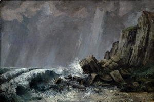 Gustave Courbet - Downpour at Etretat