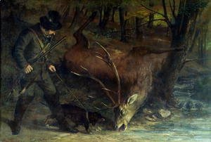 Gustave Courbet - The Death of the Stag, 1859
