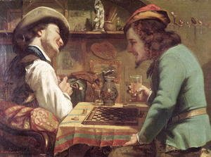 Gustave Courbet - The Game of Draughts, 1844