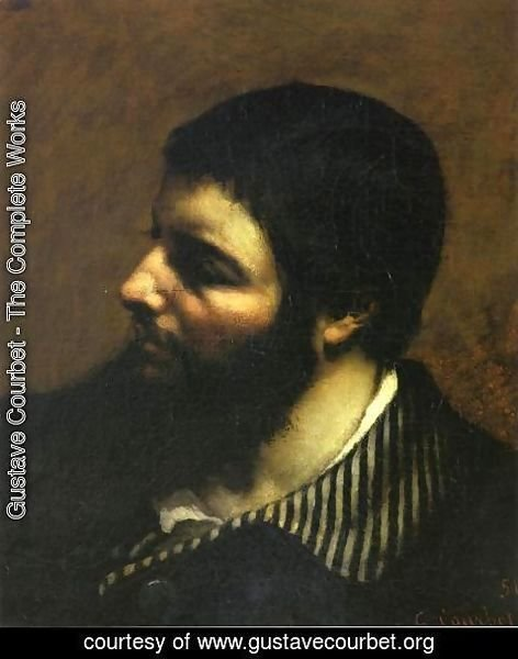 Gustave Courbet - Self Portrait with Striped Collar
