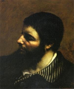 Self Portrait with Striped Collar