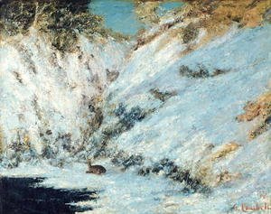 Gustave Courbet - Snowy Landscape, 1866