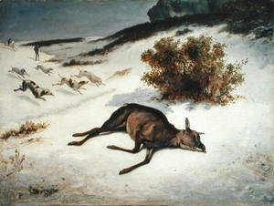Hind Forced Down in the Snow, 1866