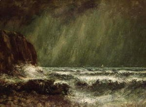 Gustave Courbet - Storm at Sea, 1865