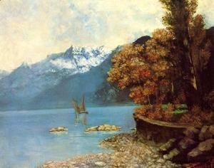 Gustave Courbet - Lake Leman, 1874