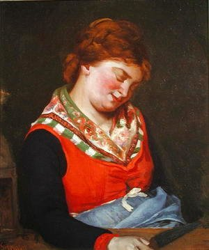 Gustave Courbet - Peasant Woman Sleeping, 1853