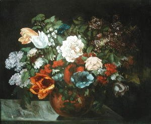 Gustave Courbet - Bouquet of Flowers, 1863