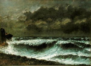Gustave Courbet - Squall on the Horizon, c.1872